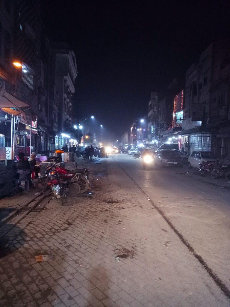 Walking in Lahore