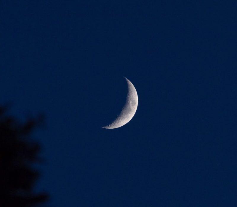 Crescent Moon on Chaand Raat