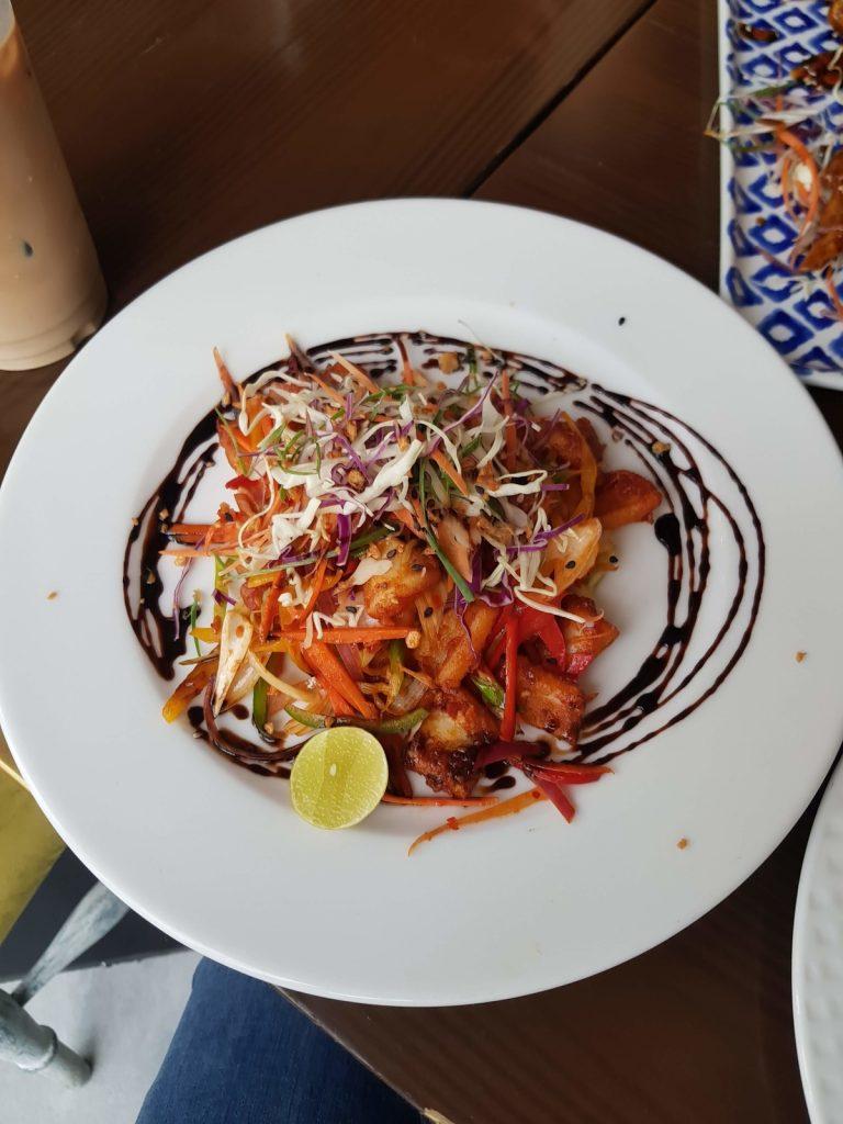 The Burning Giraffe Lahore Food Calamari